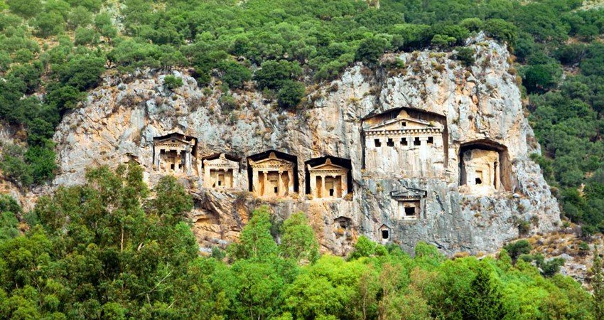 King tombs that we will see during the Marmaris Dalyan tour