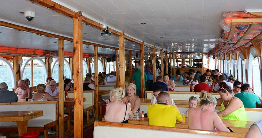 The first floor of our boat in Marmaris